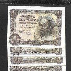 Billetes españoles: 13 BILLETES 1 PESETA 1951 VARIAS SERIE Y PAREJA SIN SERIE EBC+/S/C-. Lote 206370343