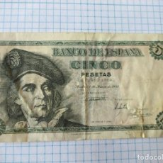 Billetes españoles: BILLETE CINCO PESETAS. 1948.. Lote 206372640