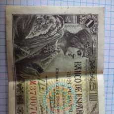 Billetes españoles: BILLETE UNA PESETA 1943. Lote 206373295