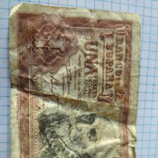 Billetes españoles: BILLETE DE UNA PESETA 1953. Lote 206375230