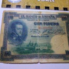 Billetes españoles: BILLETE 100 PESETAS FELIPE II. Lote 206464771