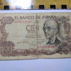 Billetes españoles: BILLETE 100 PESETAS MANUEL DE FALLA. Lote 206466153