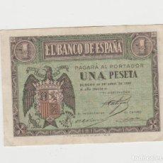Billetes españoles: 1 PESETA- BURGOS- 30 DE ABRIL DE 1938-SERIE I. Lote 206999050