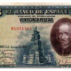 Billetes españoles: BILLETE DE ESPAÑA DE 25 PESETAS DE 1928 CIRCULADO. Lote 207124076