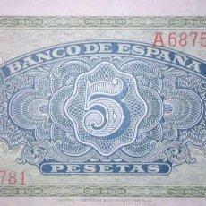 Banconote spagnole: 5 PESETAS 1940 SERIE A, SIN CIRCULAR/PLANCHA. Lote 207172106