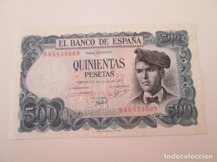 BILLETE * 500 PESETAS 23 DE JULIO DE 1971 * SERIE ESPECIAL DE SUSTITUCION 9A (Numismática - Notafilia - Billetes Españoles)