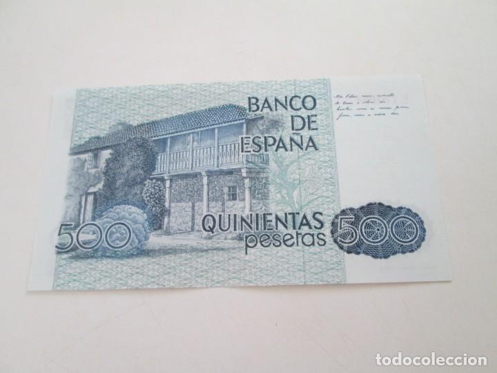 Billetes españoles: BILLETE * 500 PESETAS 23 DE OCTUBRE DE 1979 * SC - Foto 2 - 207417301