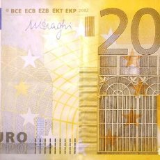 Banconote spagnole: 200 EUROS DE LA TERCERA FIRMA DRAGHI, PLANCHA E004. Lote 207439008