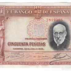 Notas espanholas: BILLETE DE ESPAÑA REPUBLICA COLOR ROJO EL QUE VES. Lote 207609703