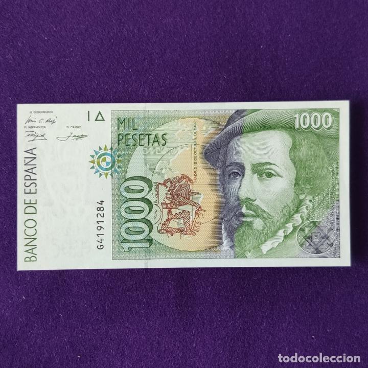 BILLETE ORIGINAL DE 1000 PESETAS. 1992. SIN CIRCULAR. PLANCHA. SERIE G. (Numismática - Notafilia - Billetes Españoles)
