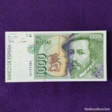 Billetes españoles: BILLETE ORIGINAL DE 1000 PESETAS. 1992. SIN CIRCULAR. PLANCHA. SERIE G.. Lote 208062647