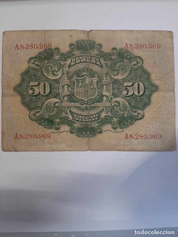 Billetes españoles: Precioso 50 pesetas 1906 Alfonso XIII Serie A - Foto 2 - 208295533