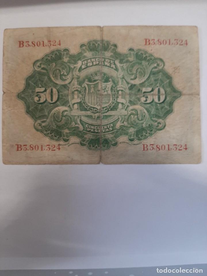 Billetes españoles: 50 pesetas 1906 Alfonso XIII Serie B - Foto 2 - 208296545