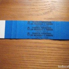 Billetes españoles: BANDA PARA ABRAZAR FAJO DE BILLETES - FMNT - F.N.M.T - 18,5 CM X 3,75 CM - AZUL. Lote 208421480