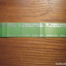 Billetes españoles: BANDA PARA ABRAZAR FAJO DE BILLETES - FMNT - F.N.M.T - 16,5 CM X 3,25 CM - VERDE. Lote 208421945