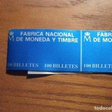Billetes españoles: BANDA PARA ABRAZAR FAJO DE BILLETES - FMNT - F.N.M.T - 16,5 CM X 3,25 CM - AZUL. Lote 208422071