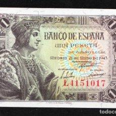 Billetes españoles: 1 PESETA 1943 SERIE L PLANCHA. Lote 208733840