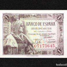 Billetes españoles: BILLETE 1 PESETA 1945 SERIE C PLANCHA. Lote 208749161