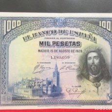 Billetes españoles: 1000 PESETAS15 DE AGOSTO 1928 E.B.C. MAS. Lote 208959771