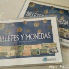 Billetes españoles: BILLETES Y MONEDAS EN LA HISTORIA DE ALICANTE (2 COLECCIONES) - UNA COMPLETA. Lote 209011992