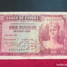 Billetes españoles: 10 PESETAS EMISION 1935. Lote 209201003