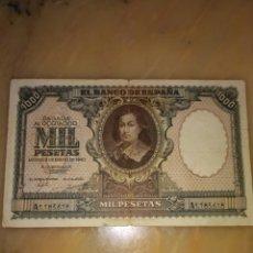 Notas espanholas: BILLETE MIL PESETAS MURILLO 1940. Lote 209680626