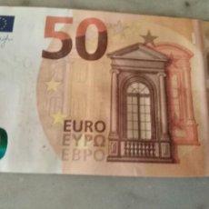 Billetes españoles: HAGA SU OFERTA BILLETE 50 EUROS SERIE VA4431137843 DE LA TERCERA FIRMA, DRAGHI, RARO DIFICIL. Lote 209840707