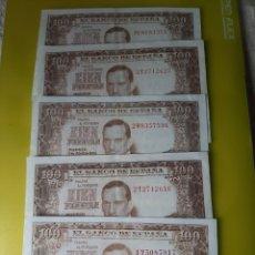 Billetes españoles: EBC SERIES 1 T 2 T 2W 2T 3E 100 PESETAS 7 ABRIL 1953 ESPAÑA ROMERO TORRES NUMISMÁTICA COLISEVM. Lote 209857770