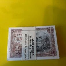 Billetes españoles: 100 BILLETES TACO SIN CIRCULAR CORRELATIVOS SERIE W 4701201/4701300 1953 BANCO ESPAÑA. Lote 209943668