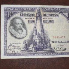 Notas espanholas: 100 PESETAS 1928 EBC-. Lote 210155692