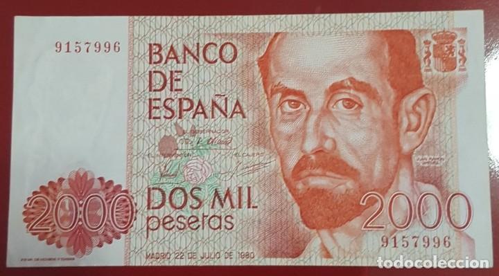 BILLETE 2000 PESETAS 1980 SIN SERIE (Numismática - Notafilia - Billetes Españoles)