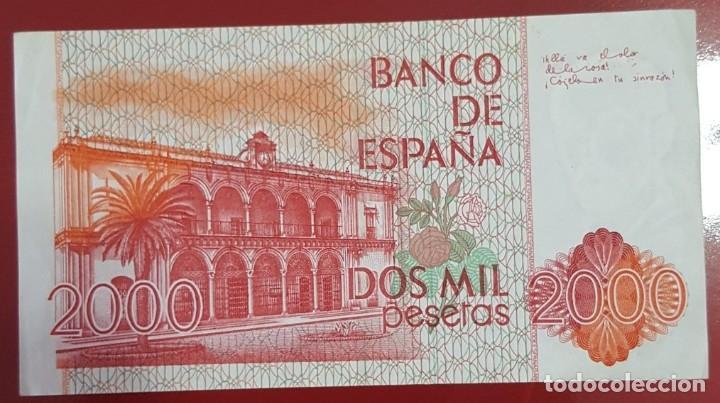 Billetes españoles: Billete 2000 pesetas 1980 sin serie - Foto 2 - 210460702