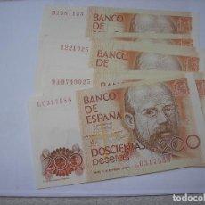 Billetes españoles: BILLETE DE 200 PESETAS DEL 16 DE SEPTIEMBRE DE 1980.LEOPOLDO ALAS CLARIN. HAY 15 UNIDADES. Lote 210636270