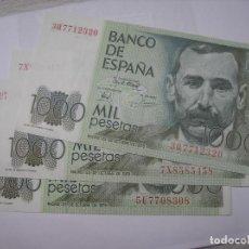 Billetes españoles: BILLETE DE 1000 PESETAS DEL 23-10-1979. BENITO PEREZ GALDOS. HAY TRES BILLETES EN VENTA. Lote 210636765