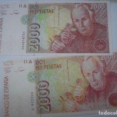 Billetes españoles: BILLETE DE 2000 PESETAS DEL 24-4-1992. CELESTINO MUTI HAY 2 BILLETES EN VENTA. Lote 210637642