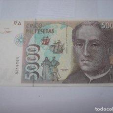 Billetes españoles: BILLETE DE 5000 PESETAS DEL 12-10-1992. CRISTOBAL COLÓN.. Lote 210637842