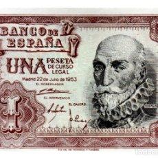 Billetes españoles: BILLETE DE ESPAÑA DE 1 PESETA DE 1953 MARZQUES DE SANTA CRUZ. Lote 211255382