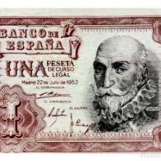 Billetes españoles: BILLETE DE ESPAÑA DE 1 PESETA DE 1953 CIRCULADO MARQUES DE SANTA CRUZ. Lote 211255551