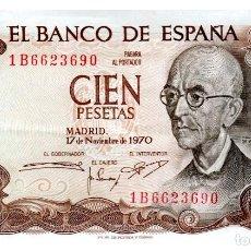 Billetes españoles: BILLETE DE ESPAÑA DE 100 PESETAS DE 1970 BUEN ESTADO. Lote 211255724
