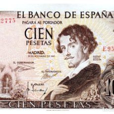 Billetes españoles: BILLETE DE ESPAÑA DE 100 PESETAS 1965 BUEN ESTADO GUSTAVO ADOLFO BECQUER. Lote 211256006