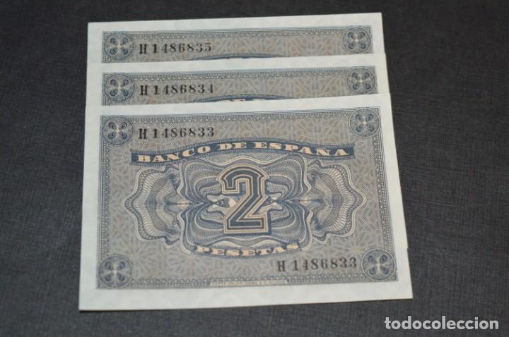 Billetes españoles: 3 BILLETES 2 Pts - 30 Abril 1938 Catedral BURGOS, Plancha / Correlativos H 1486833 / 34 / 35 ¡MIra! - Foto 5 - 211387615