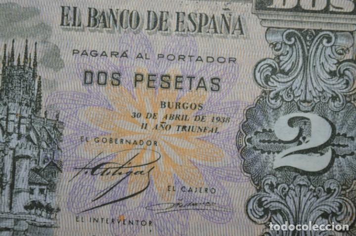 Billetes españoles: 3 BILLETES 2 Pts - 30 Abril 1938 Catedral BURGOS, Plancha / Correlativos H 1486833 / 34 / 35 ¡MIra! - Foto 4 - 211387615