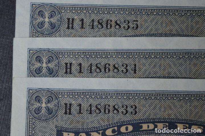 Billetes españoles: 3 BILLETES 2 Pts - 30 Abril 1938 Catedral BURGOS, Plancha / Correlativos H 1486833 / 34 / 35 ¡MIra! - Foto 6 - 211387615