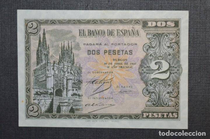 Billetes españoles: 3 BILLETES 2 Pts - 30 Abril 1938 Catedral BURGOS, Plancha / Correlativos H 1486833 / 34 / 35 ¡MIra! - Foto 7 - 211387615
