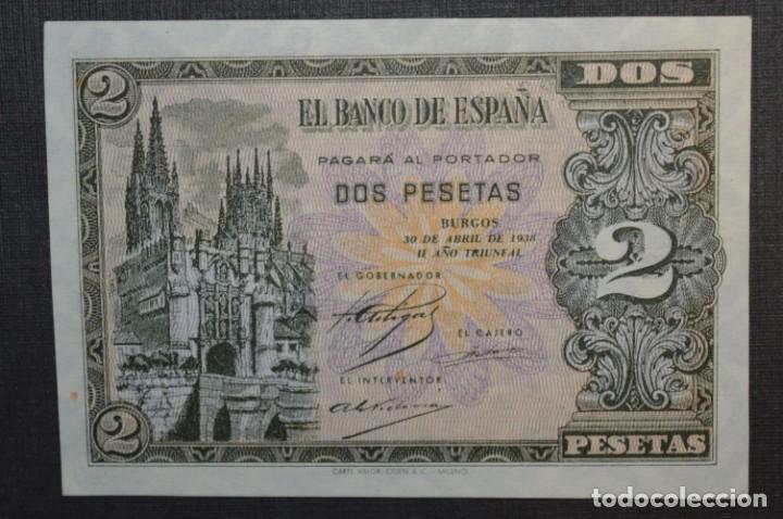 Billetes españoles: 3 BILLETES 2 Pts - 30 Abril 1938 Catedral BURGOS, Plancha / Correlativos H 1486833 / 34 / 35 ¡MIra! - Foto 9 - 211387615