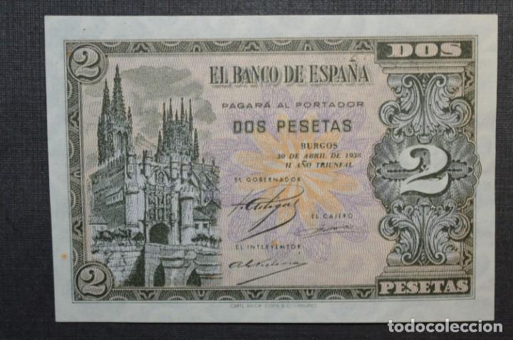 Billetes españoles: 3 BILLETES 2 Pts - 30 Abril 1938 Catedral BURGOS, Plancha / Correlativos H 1486833 / 34 / 35 ¡MIra! - Foto 11 - 211387615