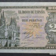 Billetes españoles: BILLETE DE 2 PESETAS - 30 ABRIL 1938 CATEDRAL BURGOS / H 1486832 - PLANCHA - NO CIRCULADO ¡DIFÍCIL!. Lote 211391254