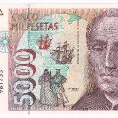 Billetes españoles: ESPAÑA 5000 PESETAS 1992 SIN SERIE Y PLANCHA CRISTOBAL COLÓN. Lote 211452762