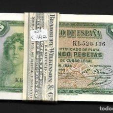 Billetes españoles: PAREJA CORRELATIVA 5 PESETAS 1935 SERIE K S/C. Lote 211452925
