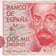 Billetes españoles: ESPAÑA 2000 PESETAS 1980 SERIE A CALIDAD PLANCHA JUAN RAMON JIMENEZ. Lote 211453170
